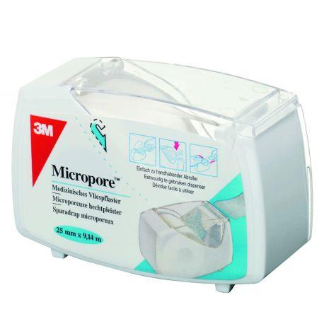 MICROPORE 25MMX9M14 DEVIDOIR BLANC