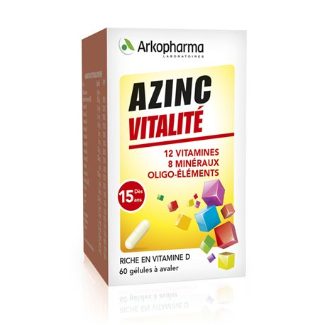 AZINC ARKOPHARMA FORM AND VITALITY ADULT 60 CAPSULES