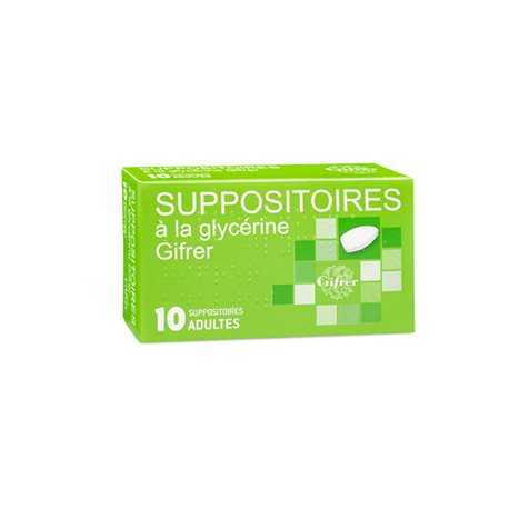 GLICERINA SUPPOSITORY ADULTI GIFRER BOX 10