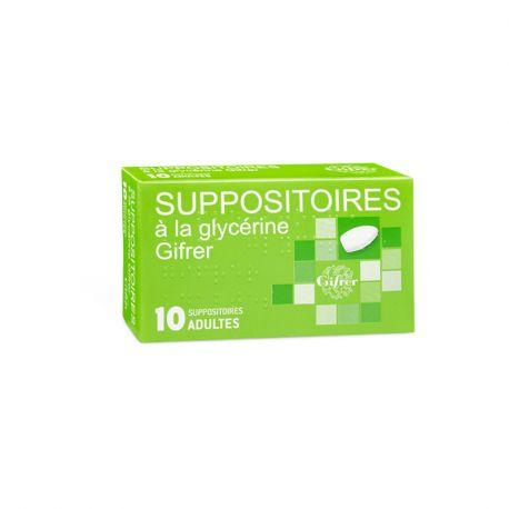 GLYCERINE zetpil VOLWASSEN Gifrer BOX 10