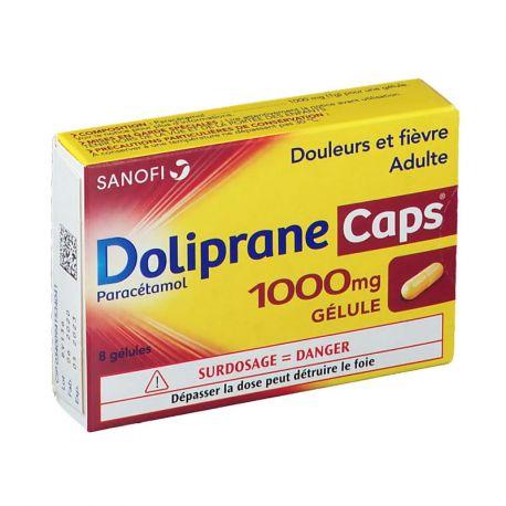 DOLIPRANECAPS 1000MG 8 CÁPSULAS