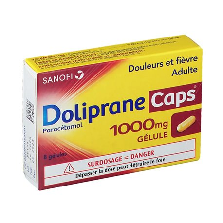 DOLIPRANECAPS 1000mg 8 CÀPSULES