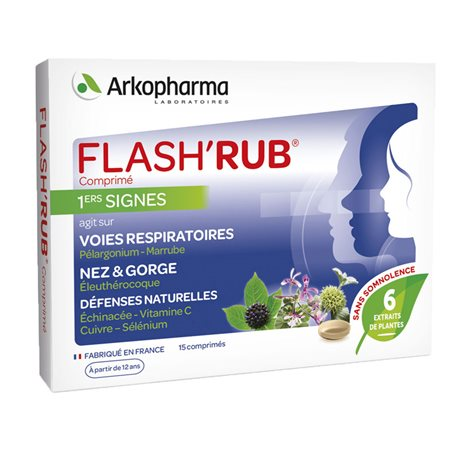 ARKOPHARMA FLASH'RUB 15 TABLETAS