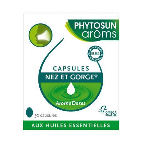 الأنف الحنجرة 30 كبسولات Phytosun Aromadoses