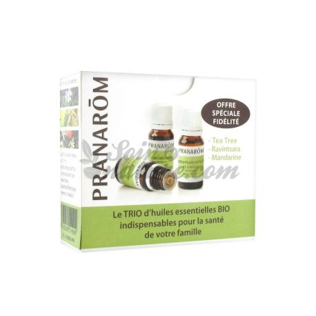 Aceites esenciales de árbol de té orgánico Trio / Ravintsara / mandarina PRANAROM