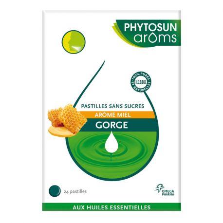 PHYTOSUN AROMS RESPIRATION PASTILLES GORGE MIEL 24 PASTILLES