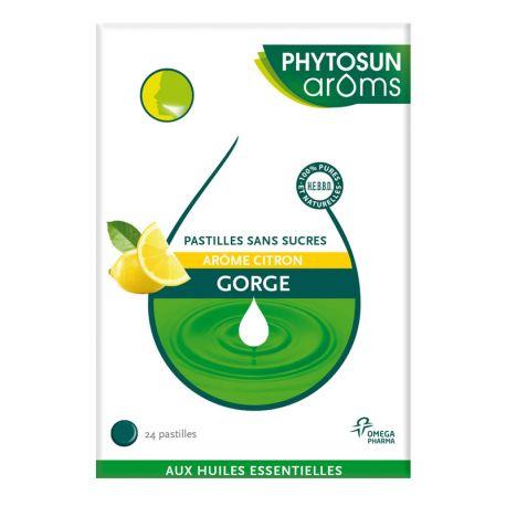 Phytosun pastille citron maux de gorges sans sucre