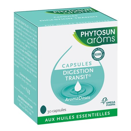 AROMADOSE Digestion transit PHYTOSUN'AROMS 30 caps