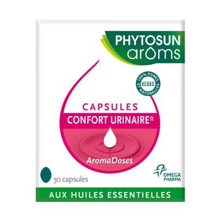 Phytosun 30 capsules Confort urinaire Aromadoses aux huiles essentielles