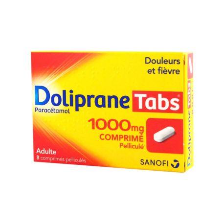 DOLIPRANE TABS 1000MG 8 COMPRIMÉS