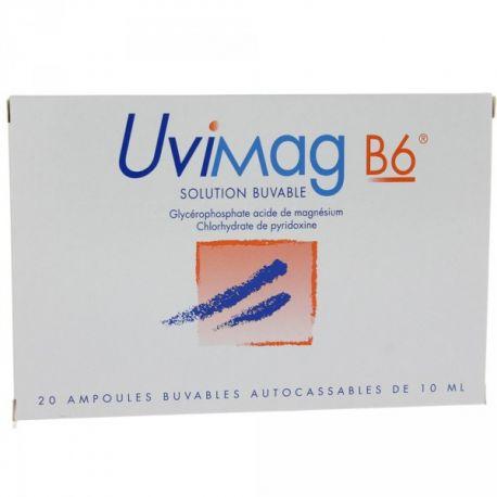 Uvimag B6 orales solución de 20 ampollas de 10 ml