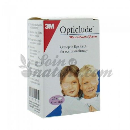 Opticlude Ecran Orthoptique 20 Pansements Adulte