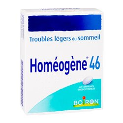 HOMEOGENE 46 TROUBLES SOMMEIL 60 CP HOMEOPATHIE BOIRON