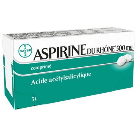ASPIRINE 500MG RHONE 50 comprimés