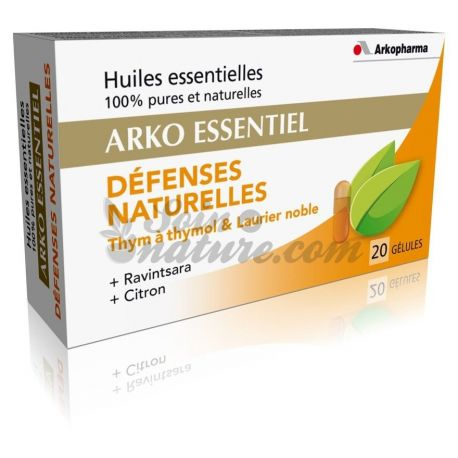 Arko Essential Natural Defences 20 Capsules Arkopharma