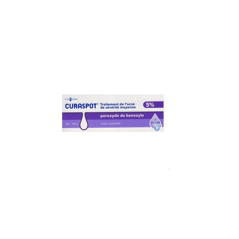 Achetez Curaspot Aqua 5% Peroxyde de Benzoyle Gel 100g en