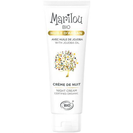 Crema de noche 50 ml de aceite de argán Marilou Bio