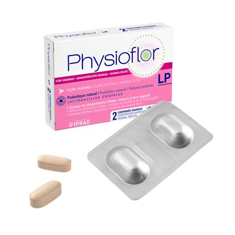 PHYSIOFLOR LP 2 comprimidos vaginais probiótico