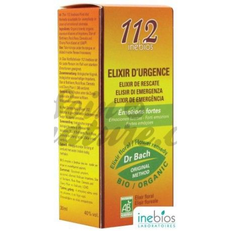 Elixir 112 Emergency Inebios Bach 30ml