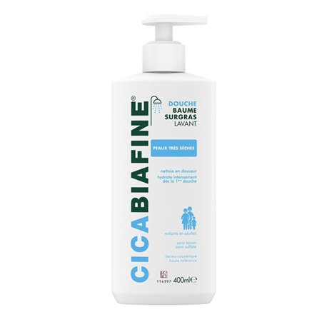 Cicabiafine Balm 400ml Moisturizing Shower overvette