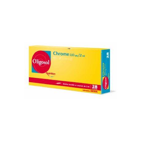 Oligosol Chrome 100 microgramos / 2 ml de oligoelementos