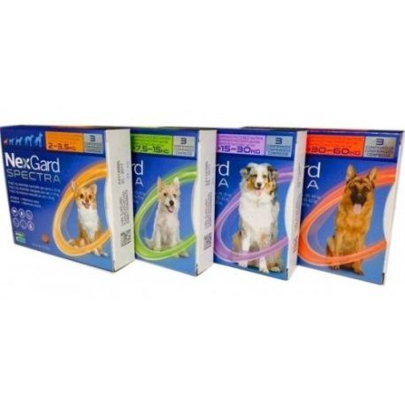 NEXGARD SPECT 38 mg / 8 mg perro 7,5-15kg B / 3