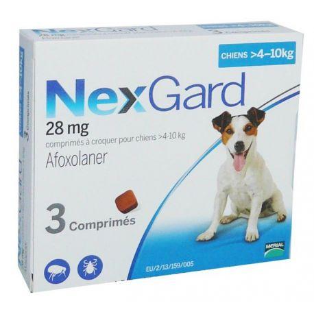 4-10kg NEXGARD Afoxolaner gos de 28 mg