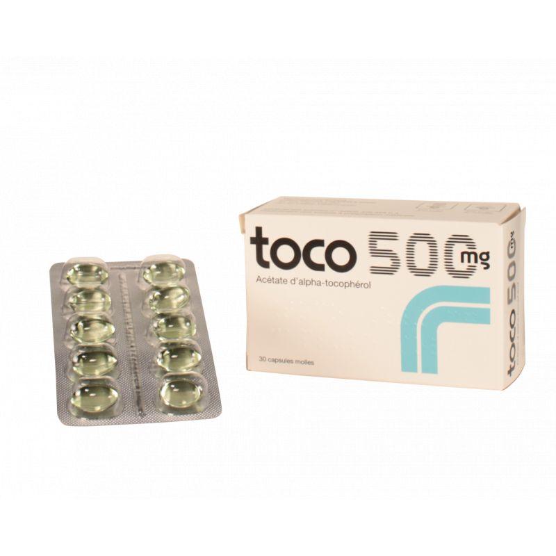 Toco 500 Mg Vitamine E Tocopherol En Vente Dans Notre Pharmacie Bio