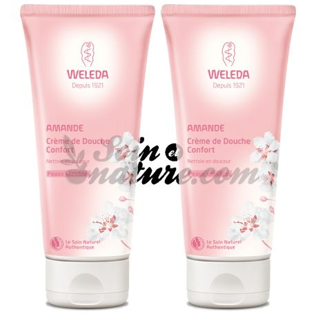 WELEDA ALMOND CREAM SHOWER COMFORT 200 ML LOT 2