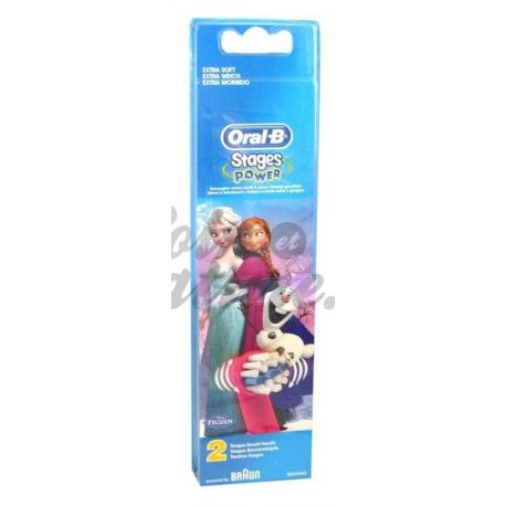 Brossettes Reine des Neiges Oral B Stages Power Lot de 2