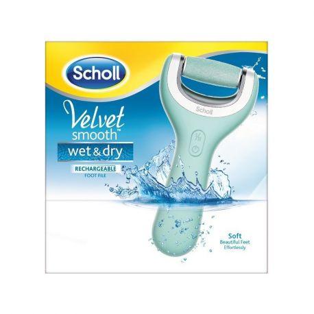 Scholl terciopelo liso mojado y en seco recargable rallador eléctrico