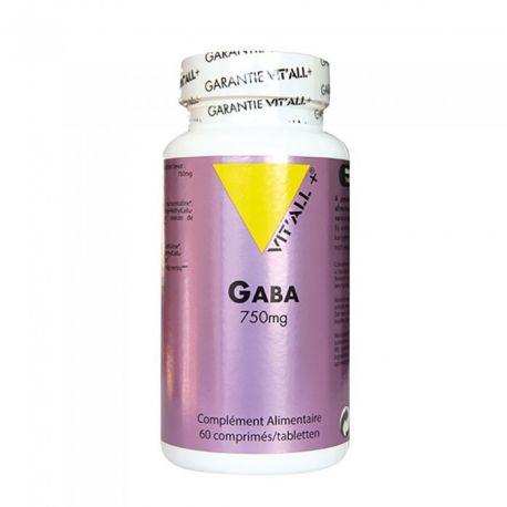 VITALL+ GABA 750MG 60 Comprimés