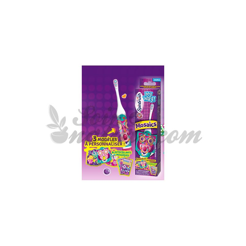 brosse a dents kids spinbrush mosaiques. Black Bedroom Furniture Sets. Home Design Ideas