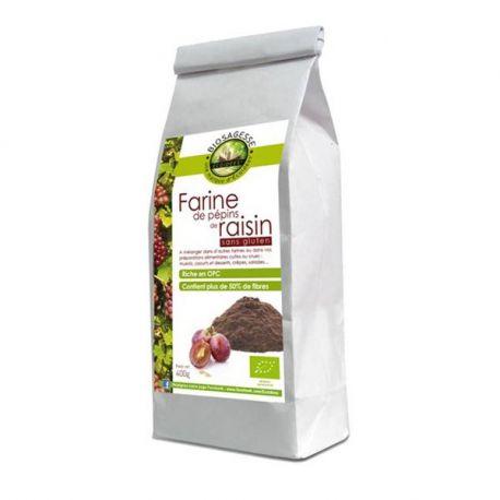 Ecoidées semente de uva Farinha Bio 400g