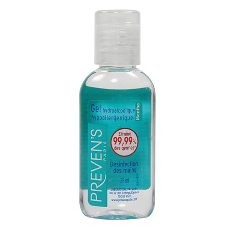 Gel Pocket menta alcolica fragranza 25ml del Preven
