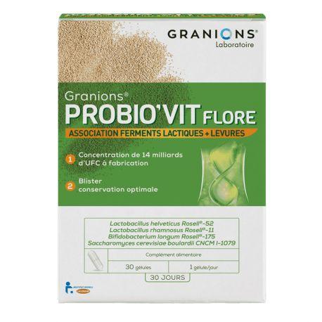 Granions PROBIO'VIT Flora 30 Capsules