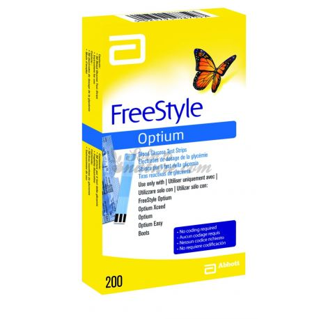 FREESTYLE OPTIUM relleno para las cajas 100