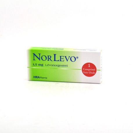 Norlevo 1,5mg Lévonorgestrel Contraception Urgence 1 comprimé
