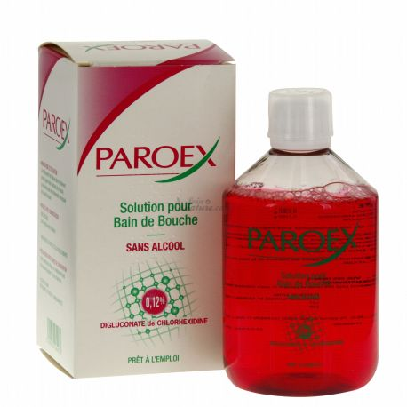 Paroex bain de bouche sans alcool Chlorhexidine