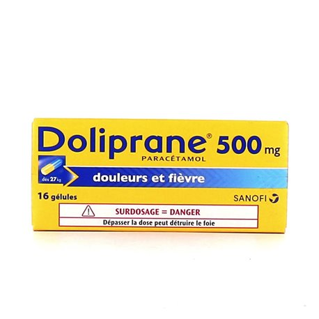 DOLIPRANE 500MG GELULES 16