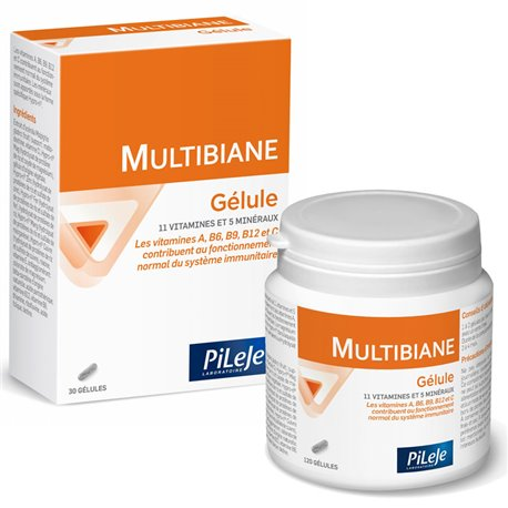 PILEJE MULTIBIANE 120 GELULES CURE MULTI-VITAMINES