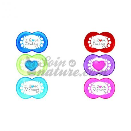 Mam Silicone Pacifier Heart + 6Months Lot 2