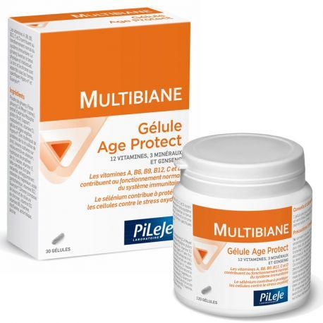 PILEJE MULTIBIANE AGE PROTECT 120 GELULES MULTI-VITAMINES