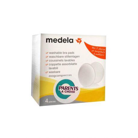 Medela 4 Coussinets Lavables Anti Microbiens Allaitement