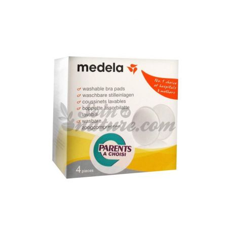 Medela 4 Pads Washable Nursing Anti Microbial
