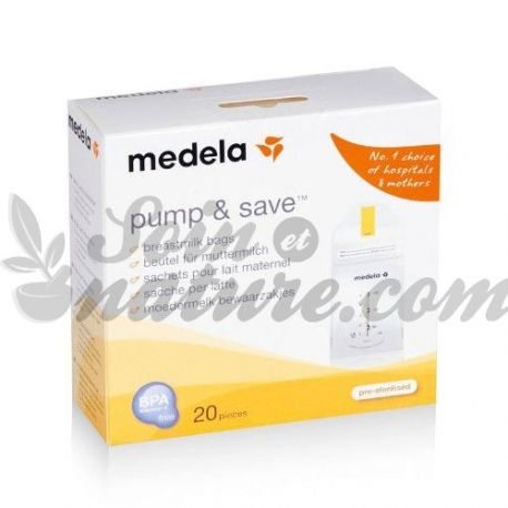 Medela Pump & Save 20 sacos para 150ml de leite materno