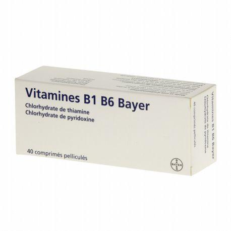 B1 vitaminas B6 Bayer 40 comprimidos
