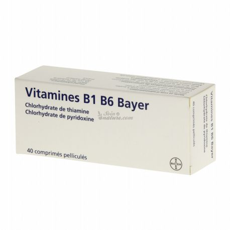 vitaminas B1 B6 Bayer 40 comprimidos