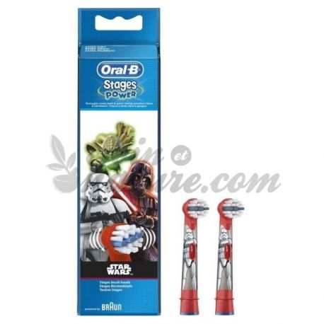 Brossettes Star Wars Oral B Stages Power Lot de 2
