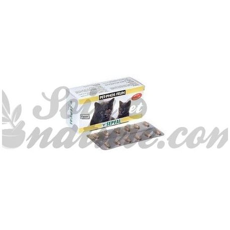 PET-PHOS FELIN GROWTH SOGEVAL 24 TABLETS